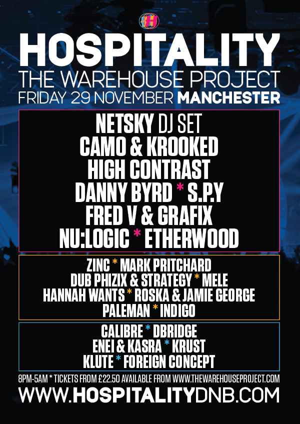 Hospitality @ Warehouse Project - 29 Nov 2013 - Hospitality